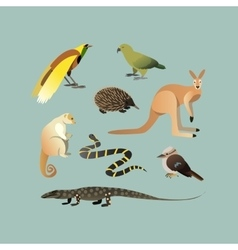 Set Of Different Australian Animals vector image