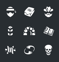 Set of drug cartel icons vector