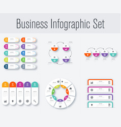 Set with infographics vector