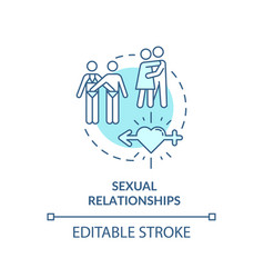 Sexual relationships concept icon vector