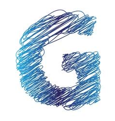 sketched letter G vector image