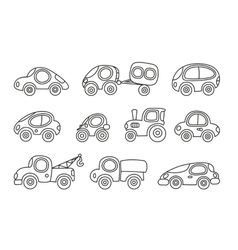 Small cars set vector