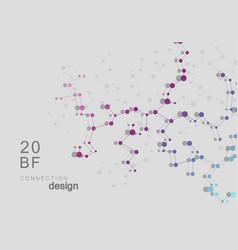 smart abstract connected mesh molecule design vector image
