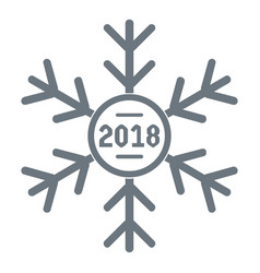 snowflake logo simple gray style vector image