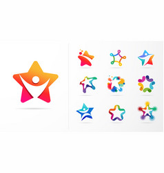 Star fitness sport excellence learning vector