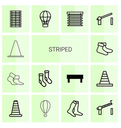 Striped icons vector