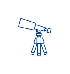 telescopescope line icon concept telescopescope vector image