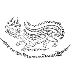 thai tradition paintingthai tattoo vector image