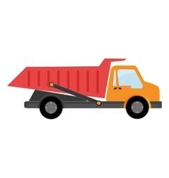 Truck dumping dump construction vector