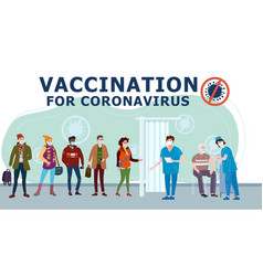 vaccination people for covid-19 immunity health vector image