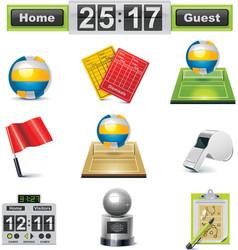 vector volleyball icon set vector image vector image