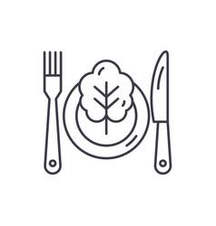 vegetarian menu line icon concept vegetarian menu vector image