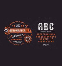 Vintage font automaster vector