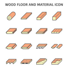 Wood floor and material for interior decoration vector