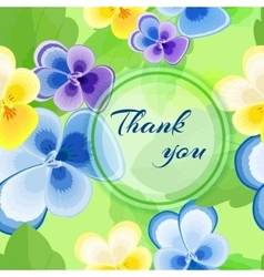 card with pansies6-01 vector image vector image