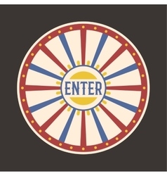 Circus vintage enter label banner vector image