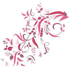 elegant floral ornament for your design vector image