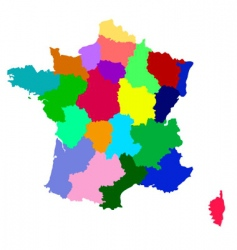 france map with regions vector image vector image