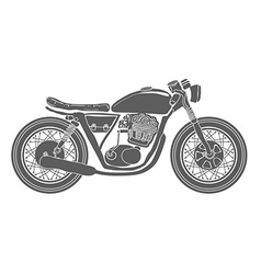 Hand Drawn Vintage Motorcycle Isolated vector image