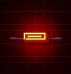 neon symbol minus sign city signboard vector image vector image