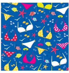 Seamless swimming suits pattern vector image vector image