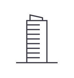 skyscrapper sign line icon sign vector image