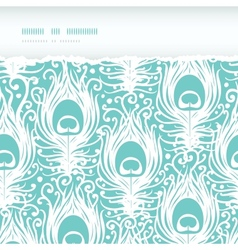 Soft peacock feathers horizontal torn seamless vector image