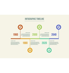 Timeline Infographic design template vector image