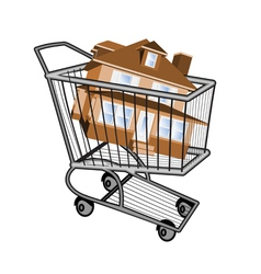 buying a new house vector image