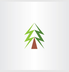 christmas tree symbol green icon vector image vector image