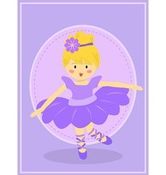 Cute Purple Ballerina Girl vector image