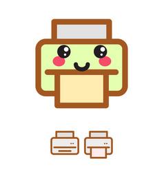 printer kawaii icon vector image vector image