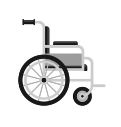 Wheelchair Medical Icon on White Background vector image vector image