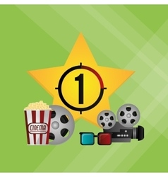 cinema graphic design vector image vector image