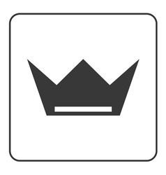 Crown icon flat sign vector image vector image