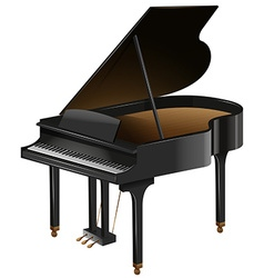 Grand piano with the top opened vector image vector image