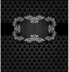 Abstract metal dark frame vector image vector image