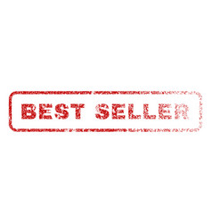 best seller rubber stamp vector image vector image