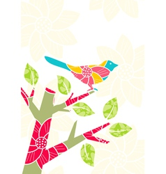bird on tree branch vector image vector image