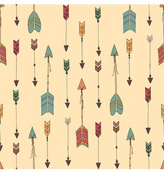 Bohemian hand drawn arrows seamless pattern vector image