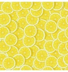 bright lemon slices seamless pattern vector image vector image