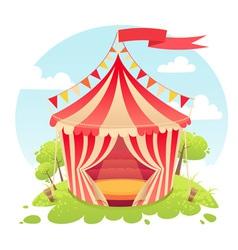 Cute cartoon tent show circus vector image