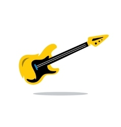 Electric Guitar Cartoon vector image