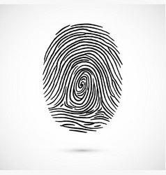 fingerprint icon identification isolated on white vector image vector image