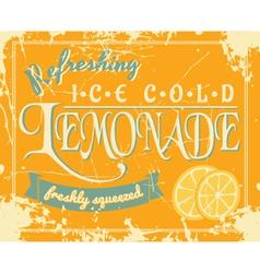 lemonade vintage label vector image vector image