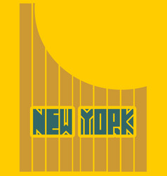 new york city name typography poster concept vector image