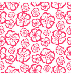 rose sketch simple flower pattern vector image vector image