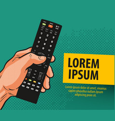 tv television banner remote control comics vector image