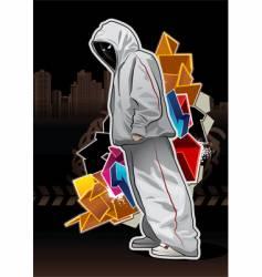urban gangster 5 x vector image vector image