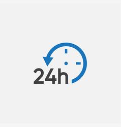 24h icon design sign vector